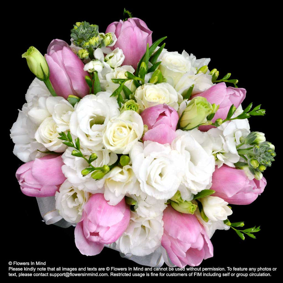 Bridal bouquet Tulips with Eustomas (WD157)