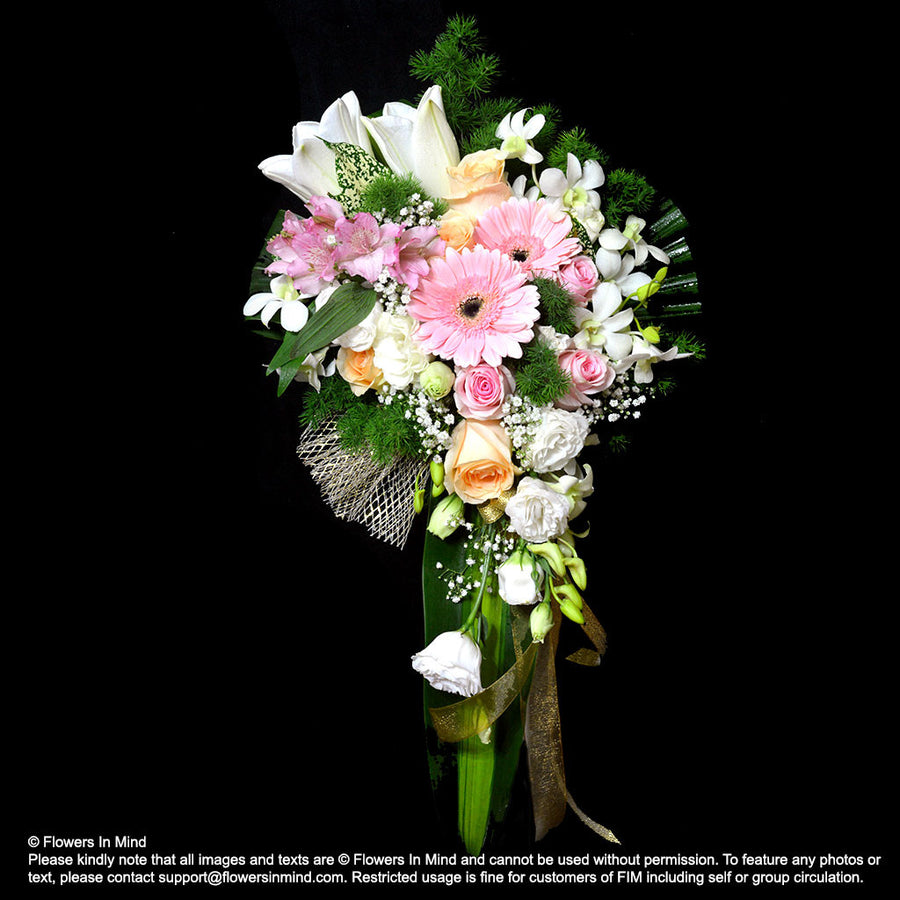 Bridal cascade bouquet (WD163)