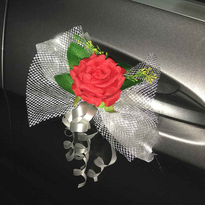 Bridal Car Decoration (with artificial flowers) - Flowers-In-Mind