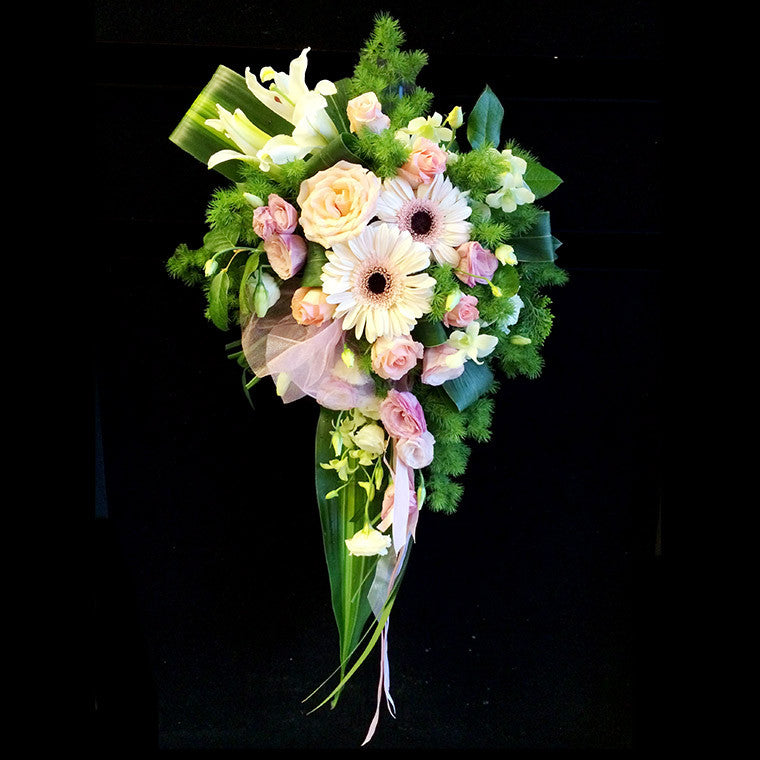 Bridal cascade bouquet (WD17) - Flowers-In-Mind