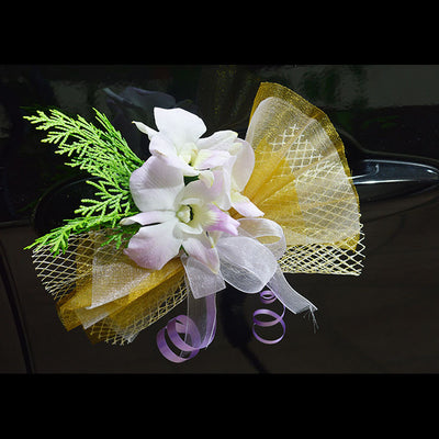 Bridal Car Decoration With Fresh Flowers Flowers In Mind