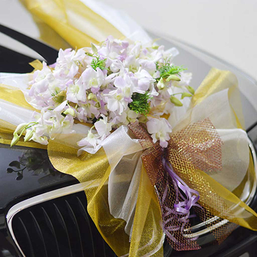 Bridal Car Decoration (with fresh flowers) - Flowers-In-Mind