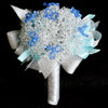 Bridal bouquet with Swarovski Crystals (WD30) - Flowers-In-Mind