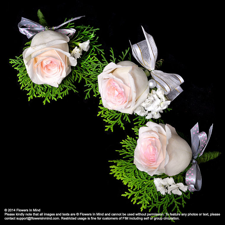 Corsage with Roses (Pink Centre Pink)