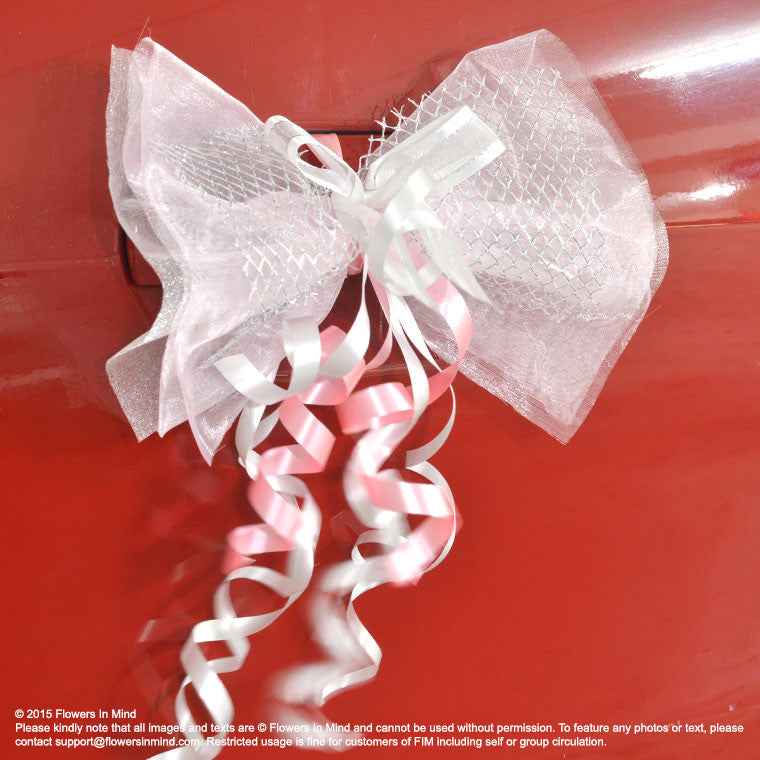 Bridal Bridesmaid Car Decoration (with ribbons) - Flowers-In-Mind