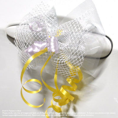 Bridal Car Decoration (with ribbons) - Flowers-In-Mind