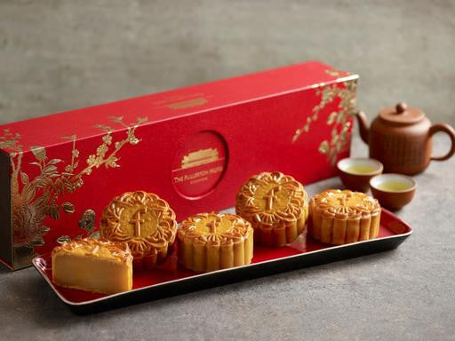 THE FULLERTON WHITE LOTUS SEED PASTE BAKED MOONCAKES