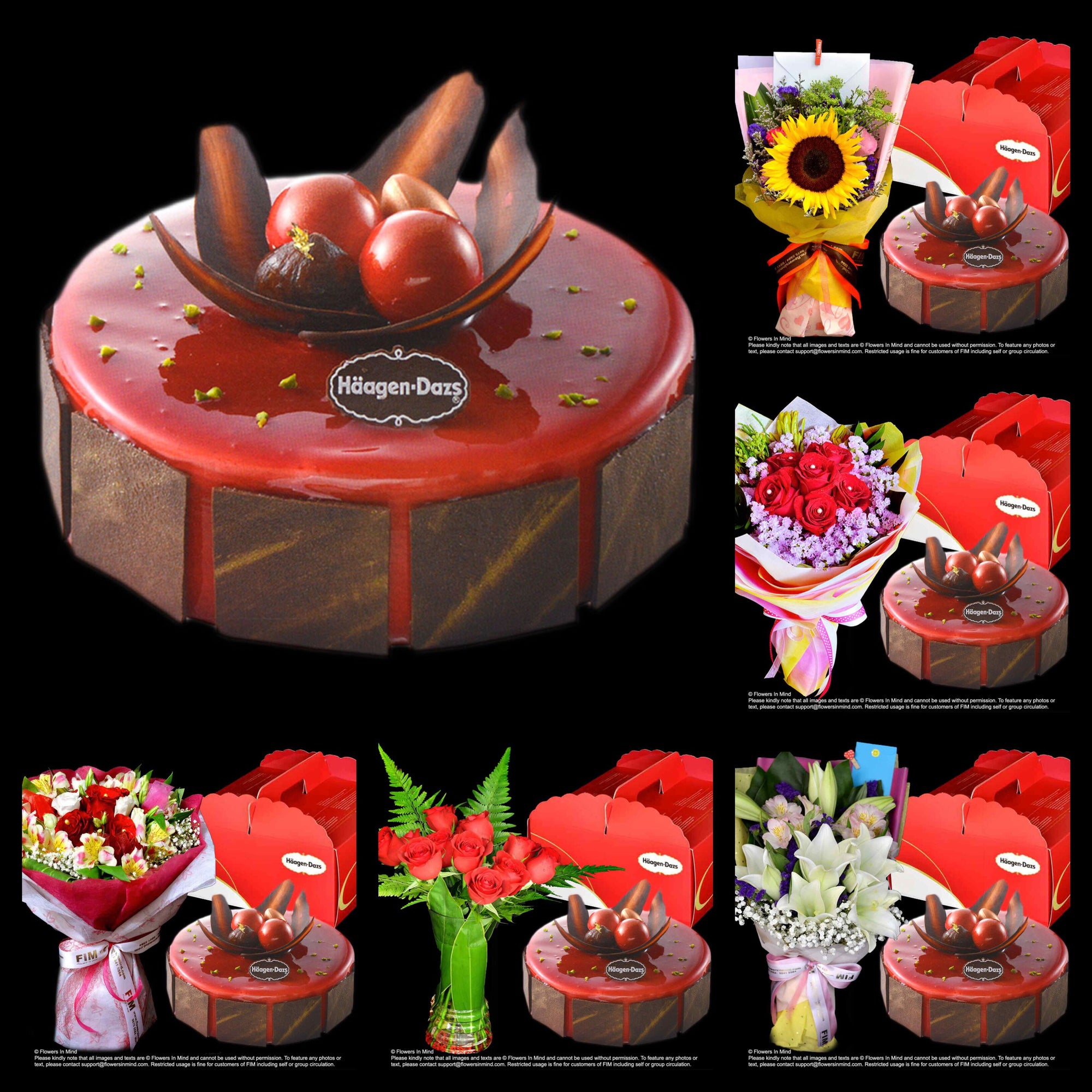 Marvelous Ice Cream Cake Love Moment From Haagen Dazs With Flowers Delivery Personalised Birthday Cards Akebfashionlily Jamesorg