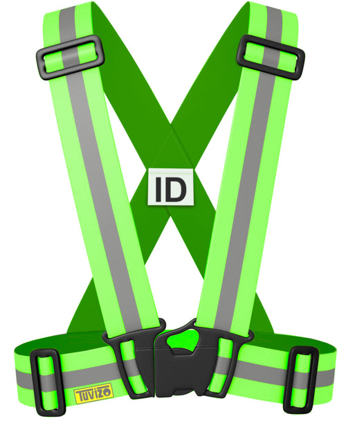 Tuvizo Reflective Vest for High Visibility All Day and Night with Emergency Identification Label. For Adults and Kids