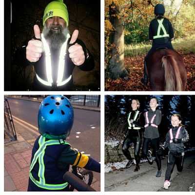 Tuvizo Reflective Vest for Running or Cycling.  Comfortable Reflective Gear to Increase Safety and Visibility
