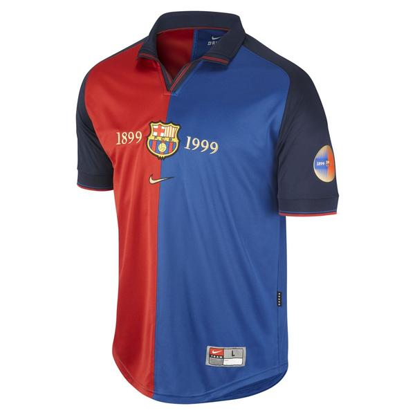 1999-2000 Barcelona Home 100 Year Anniversary Jersey Shirt Retro Personalized Name and Number - zorrojersey
