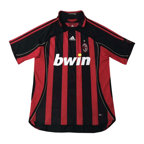 AC Milan 2006 Home Retro Men Soccer Jersey Personalized Name and Number - zorrojersey