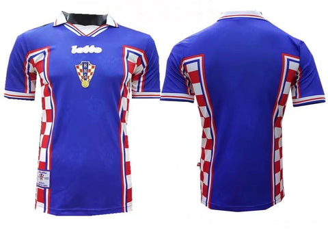 Croatia 1998 World Cup Away Men Soccer Retro Jersey Personalized Name and Number
