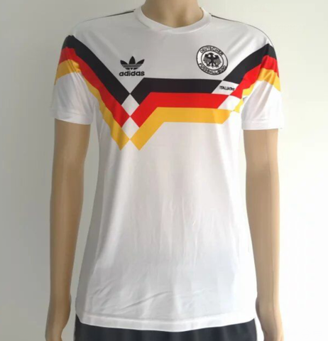 Germany 1990 home Men Soccer Retro Jersey Personalized Name and Number - zorrojersey