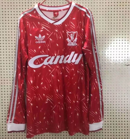 LFC 1989 Home Long Sleeve Men Soccer Retro Jersey Personalized Name and Number