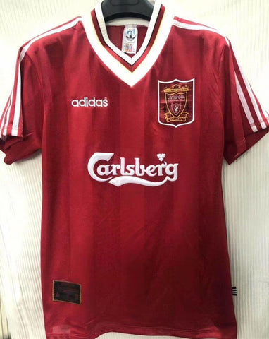 LFC 1995-96 Home Men Soccer Retro Jersey Personalized Name and Number