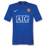 Manchester United 0708 Third Blue Men Soccer Jersey Personalized Name and Number (4)