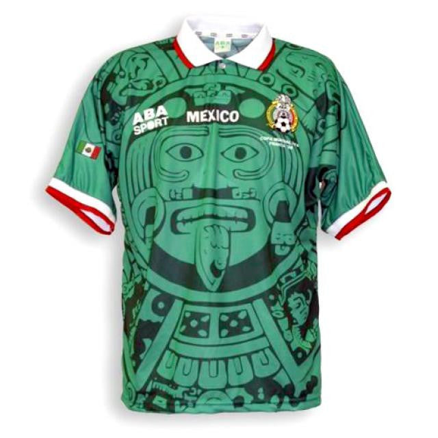 cbf6af40b82 Mexico 1998 Home Men Soccer Retro Jersey Personalized Name and ...