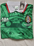 Mexico 1998 Home Men Soccer Retro Jersey Personalized Name and Number - zorrojersey