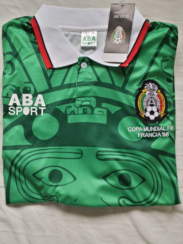 565e4b098c6 ... Mexico 1998 Home Men Soccer Retro Jersey Personalized Name and Number  ...