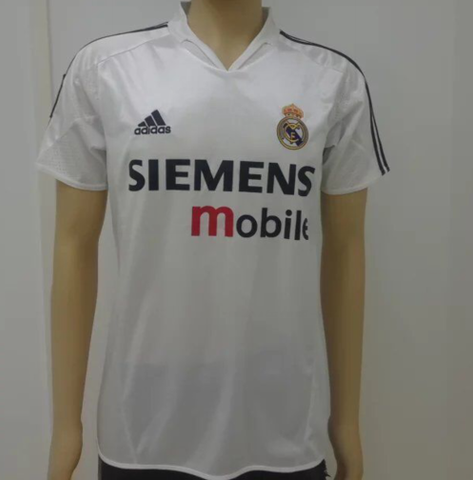 Real Madrid 2004/05 home Men Soccer Retro Jersey Personalized Name and Number