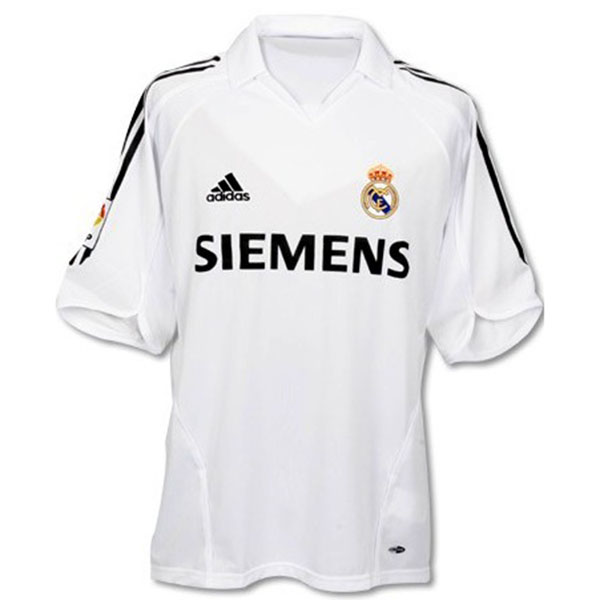 Real Madrid 2006 Home Retro Men Soccer Jersey Personalized Name and Number - zorrojersey