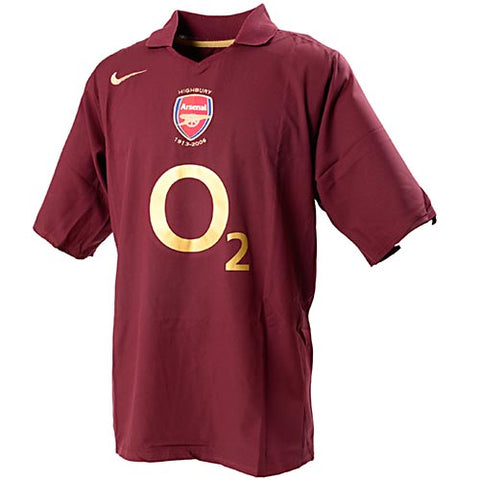 Arsenal 05/06 Home Men Soccer Retro Jersey Personalized Name and Number - zorrojersey