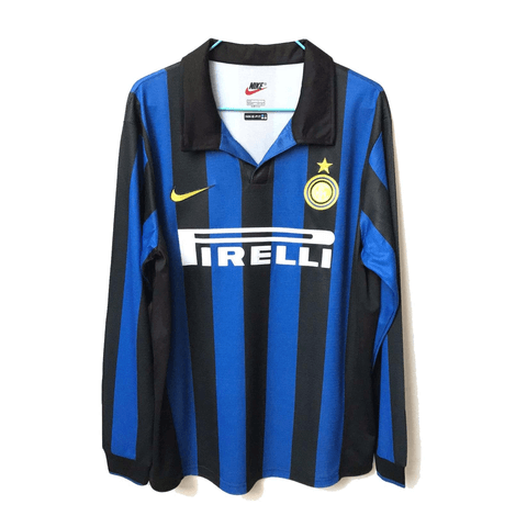 Inter Milan 1998 Home Long Sleeve Retro Men Soccer Jersey Personalized Name and Number - zorrojersey