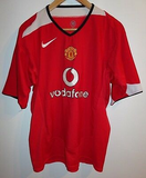 Manchester United 2004-2006 Home Retro Men Soccer Jersey Personalized Name and Number