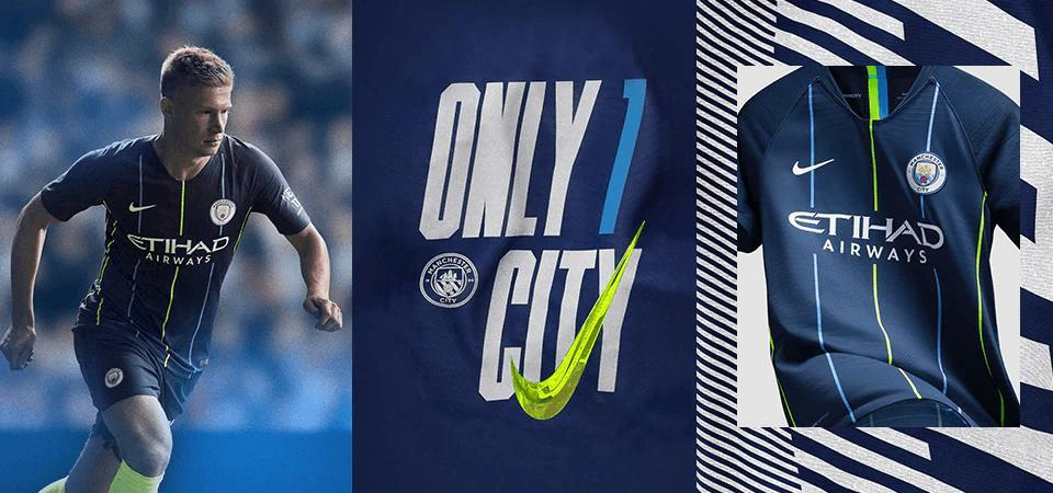Man City 2018/19 Home Men Soccer Jersey