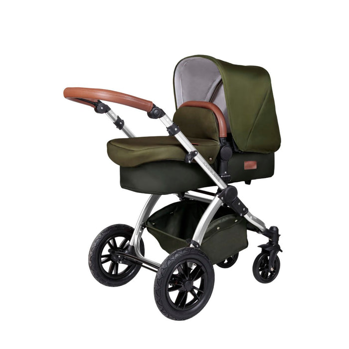 Ickle Bubba Stomp V4 Travel System - Special Edition Woodland/Chrome - Delivery in 5 working days