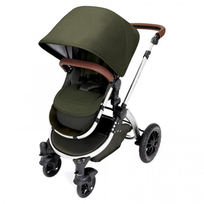 Ickle Bubba Stomp V4 i-Size Travel System - Special Edition Woodland Chrome - Delivery in 5 working days