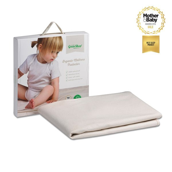 The Little Green Sheep Organic Single Mattress Protector (90x190cm) - Twin Pack