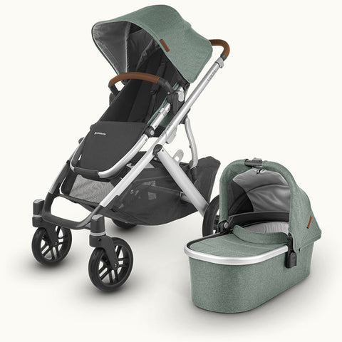 UPPAbaby Vista V2 with Cybex Cloud Z i-Size Car Seat & Swivel Base - Emmett Green 2020 - Delivery Mid June