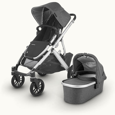 UPPAbaby Vista V2 with Cybex Cloud Z i-Size Car Seat & Swivel Base - Jordan Black/Grey 2020 - Delivery Mid May