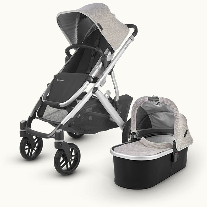 UPPAbaby Vista V2 with BeSafe iZi Go Modular i-Size Car Seat & Base - Sierra Dune Knit 2020 - November Delivery