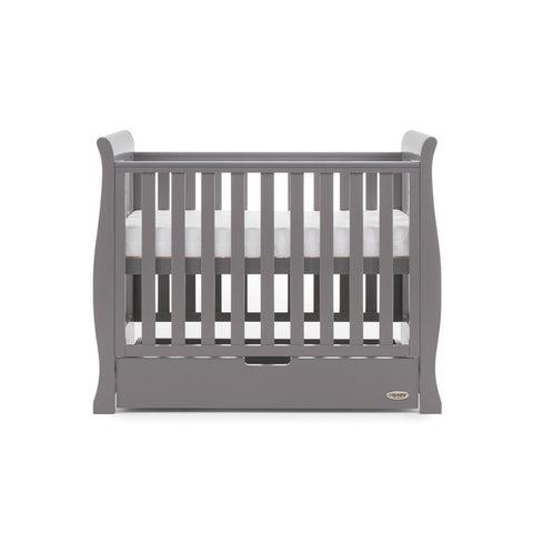 Stamford Space Saver Cot 100x50cm with Under Drawer - Taupe Grey