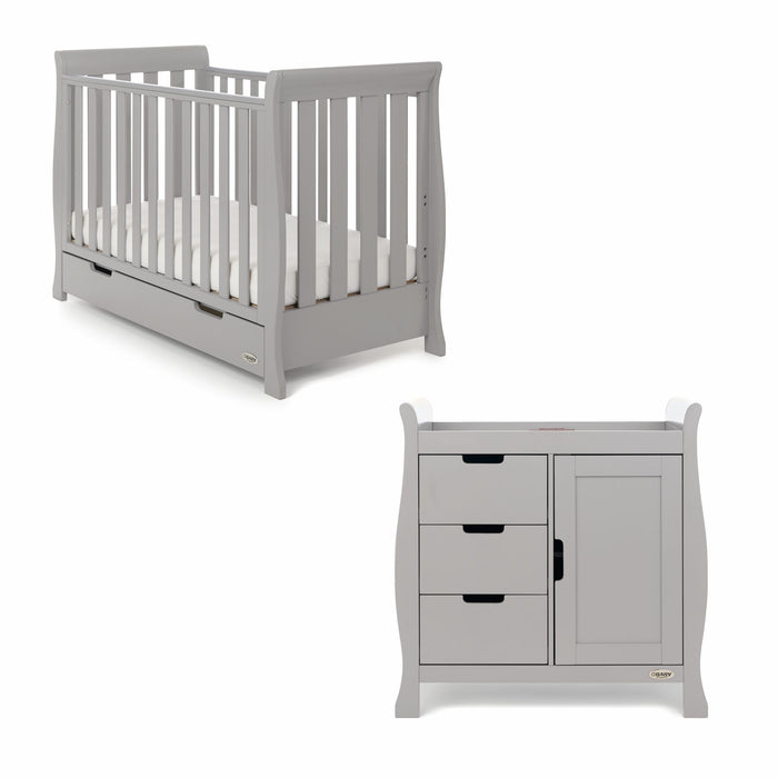 Stamford Mini Sleigh 2 Piece Room Set - Warm Grey