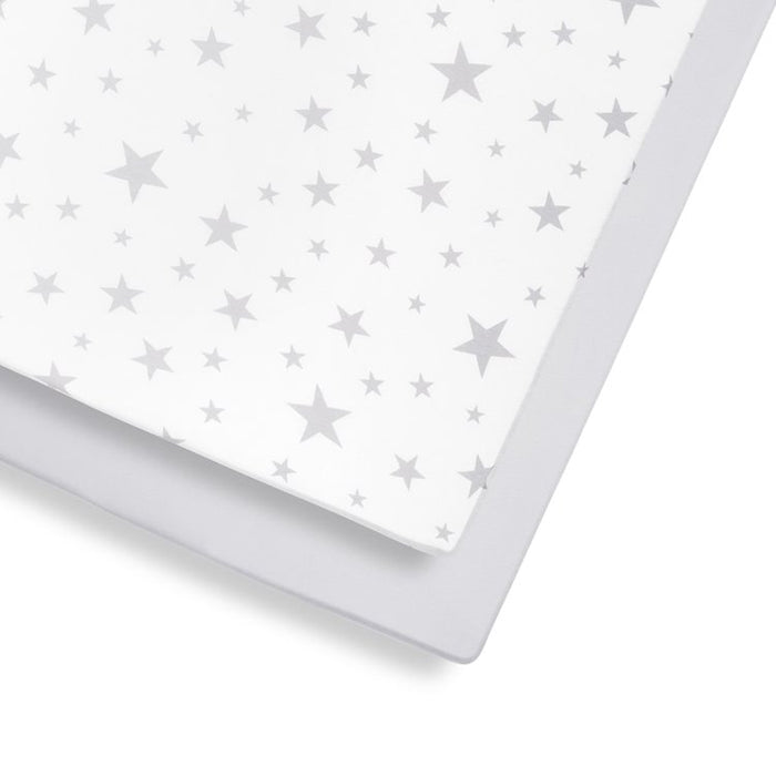 Snuz Cot & Cot Bed 2 Pack Fitted Sheets - Stars