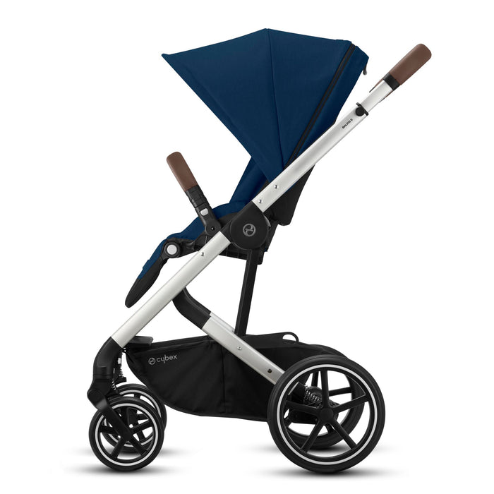 Cybex Balios S Lux i-Size Travel System - Silver Chassis/Navy Blue - In Stock