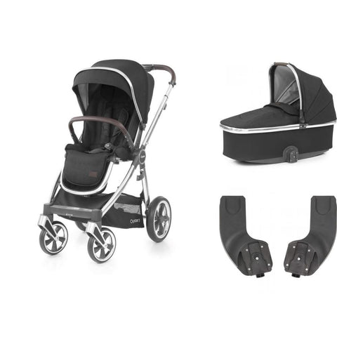 BabyStyle Oyster 3 Essential Bundle - Caviar on Mirror Chassis - Delivery End June