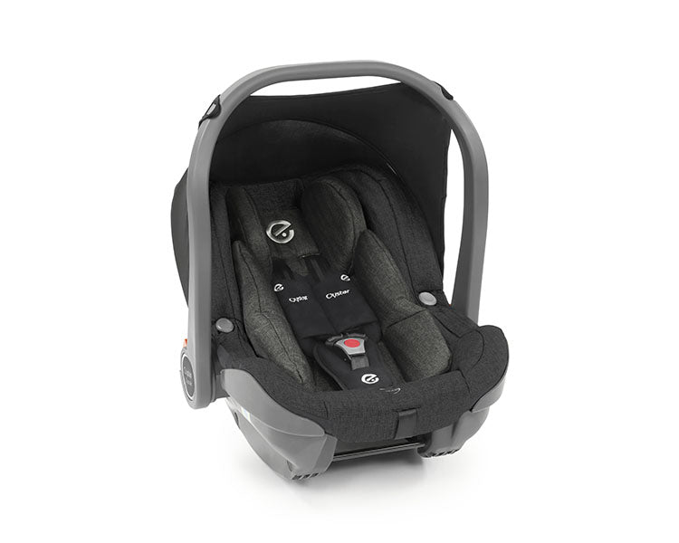 BabyStyle Oyster 3 Essential Bundle with Capsule i-Size Car Seat & Oyster Duofix Base - Caviar on Mirror Chassis - Delivery Late Dec