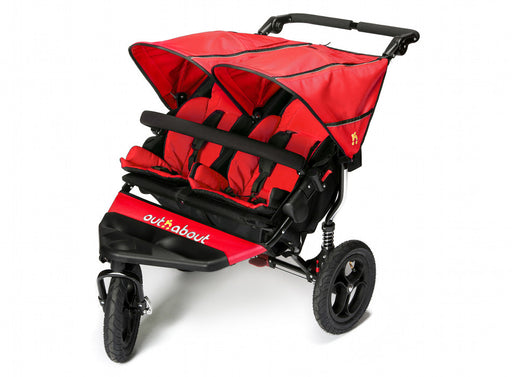 Out n About Nipper Double V4 Pushchair Carnival Red