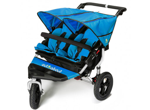 Out n About Nipper Double V4 Pushchair Lagoon Blue