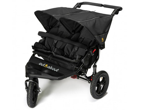 Out n About Nipper Double V4 Pushchair Raven Black