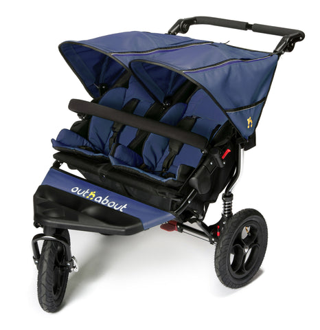 Out n About Nipper Double V4 Pushchair Royal Navy - Delivery Early July