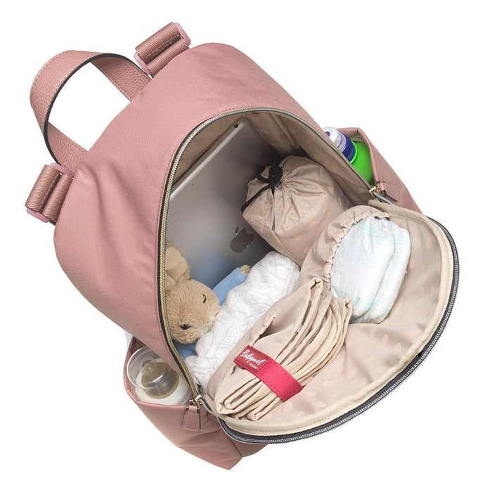 Babymel Gabby Backpack Changing Bag - Dusty Pink Vegan Leather