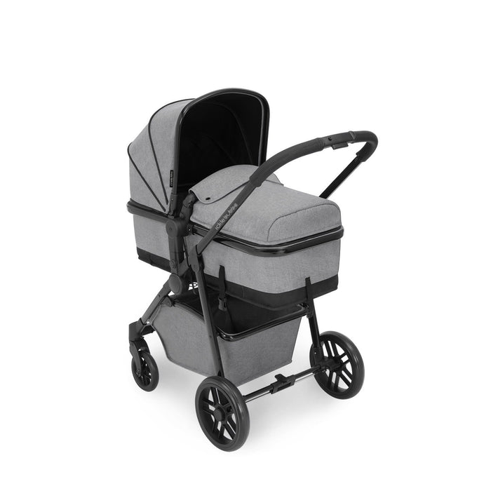 Ickle Bubba Moon 3 in 1 Travel System with Isofix Base - Space Grey - Delivery Early Oct