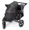 Out n About Nipper Double V4 Pushchair Steel Grey - Delivery End of July
