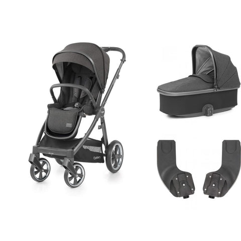 BabyStyle Oyster 3 Essential Bundle - Pepper on City Grey Chassis - Delivery Early August